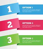 One two three - vector progress steps