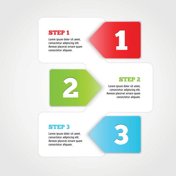 one two three - vector progress steps. - 一個物體 幅插畫檔、美工圖案、卡通及圖標