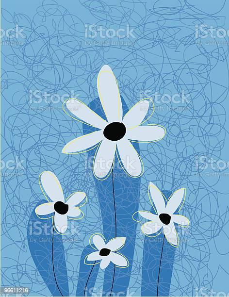 Flower One-vektorgrafik och fler bilder på Blomkorg - Blomdel