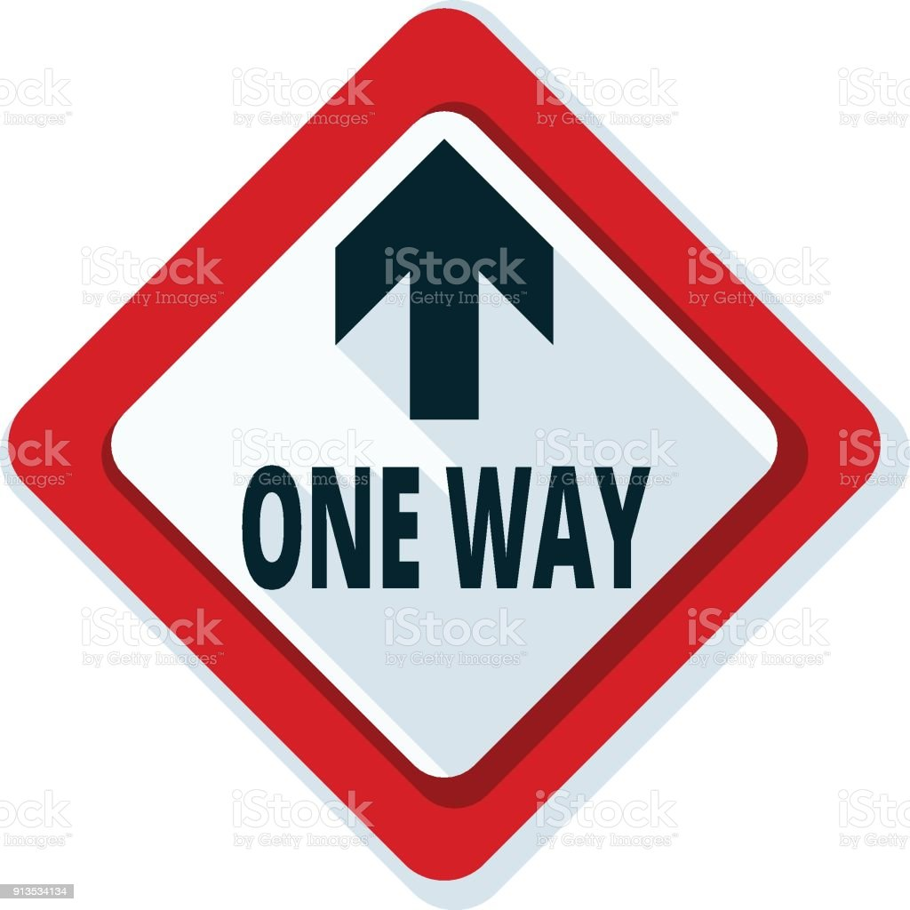 One Way Up Front Arrow Sign Illustration Stock Vector Art More