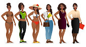 istock One young woman in different clothes 1277015862