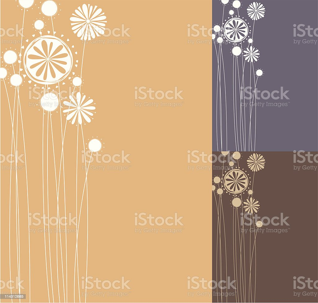 one-colour floral design royalty-free stock vector art