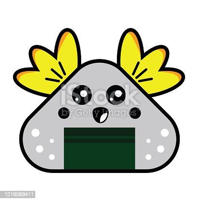 istock Onigiri cute template vector design 1219089411