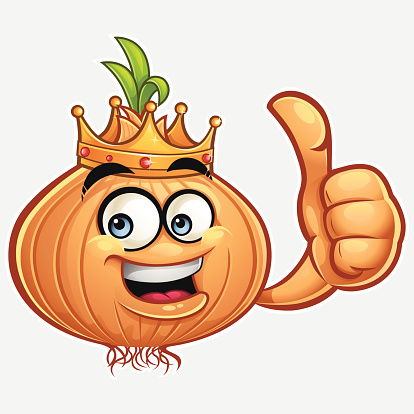 Onion Cartoon - Thumbs Up