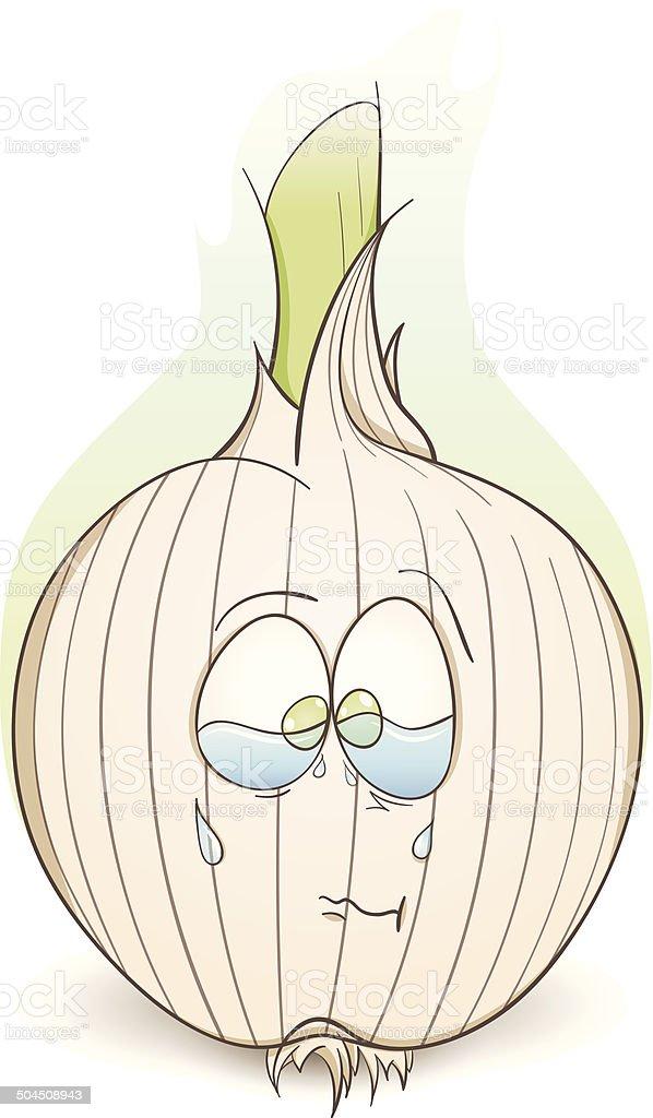 Onion Cartoon–Illustration royalty-free stock vector art