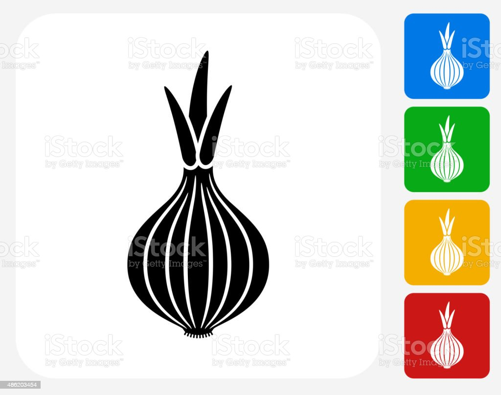 Onion Icon Flat Graphic Design vector art illustration