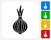 Onion Icon Flat Graphic Design