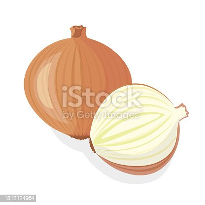 istock Onions vegetable plant. Organic natural healthy vegetable. 1312124954