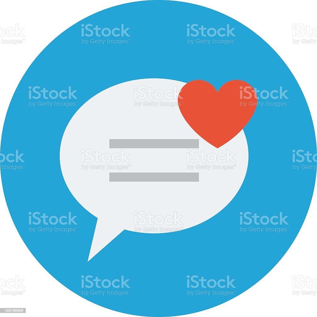 Online Affection Colored Vector Illustration vector art illustration