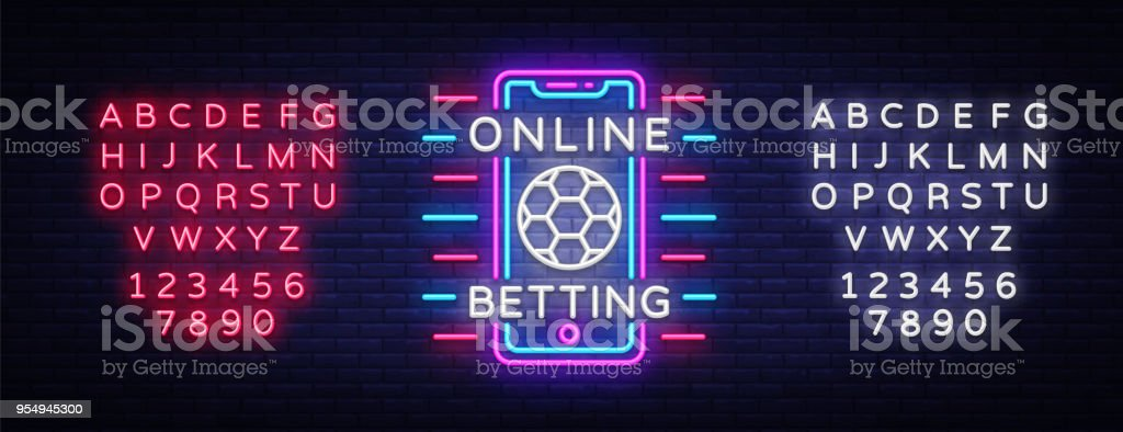 Online Betting Neon Sign Sports Betting Online Betting Neon Symbol Light  Banner Bright Night Advertising Gambling Casino Vector Editing Text Neon  Sign Stock Illustration - Download Image Now - iStock