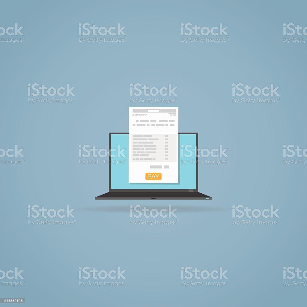 Online billing invoice vector art illustration