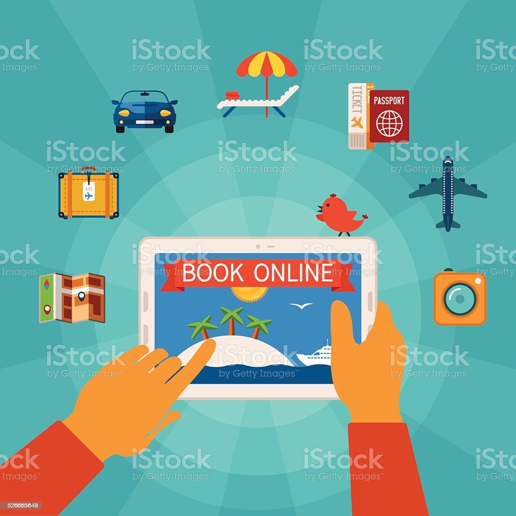 Online booking vector concept vector art illustration