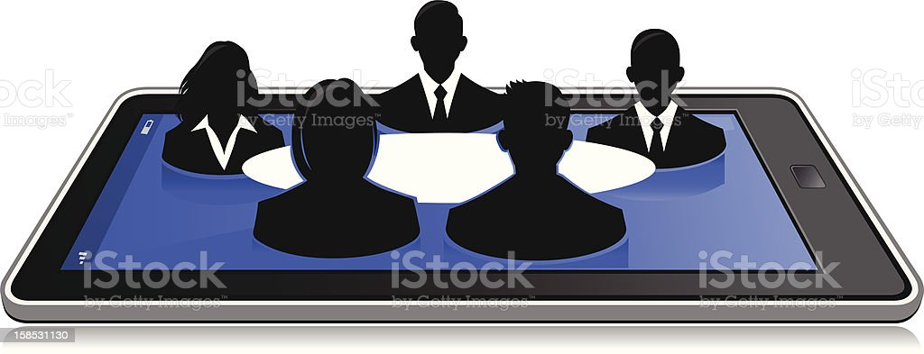 Online Business Meeting royalty-free stock vector art