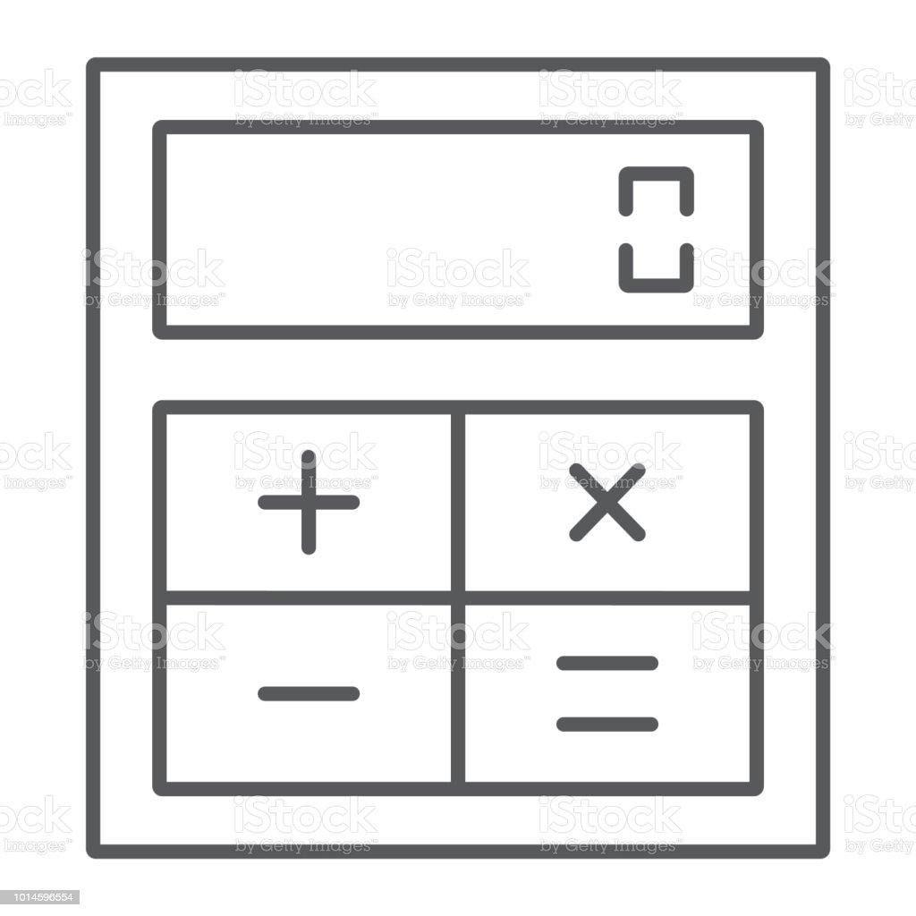 Online calculator line glyph icon finance stock vector (royalty.
