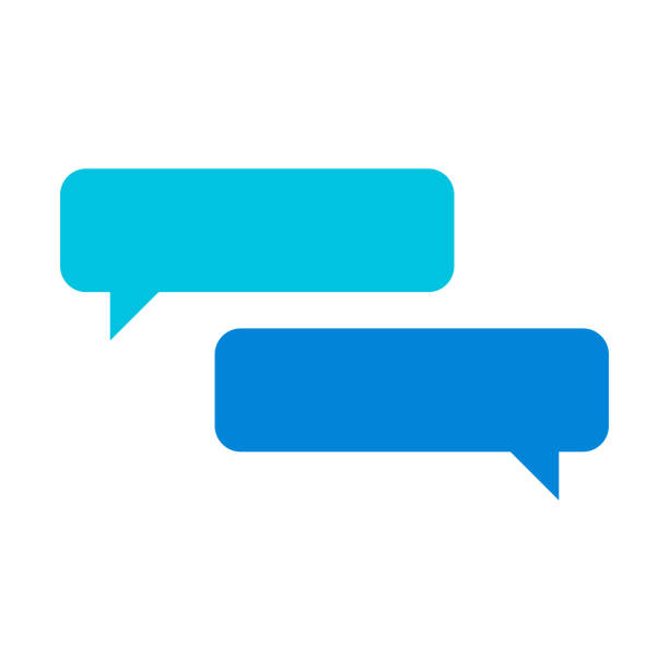 Online chat design Vector illustration of a set of online chat designs, ideal for design projects, social media ideas and concepts and mobile apps and online messaging platforms. speech bubble stock illustrations