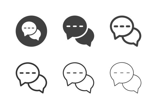Online Chat Icons - Multi Series vector art illustration
