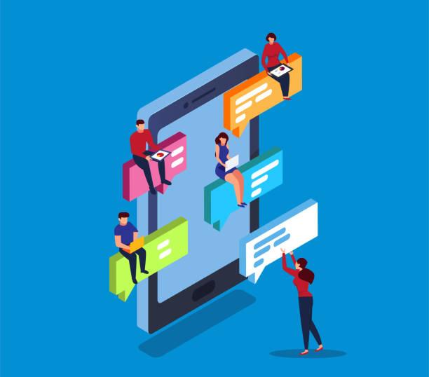 online chating online chating online dating stock illustrations
