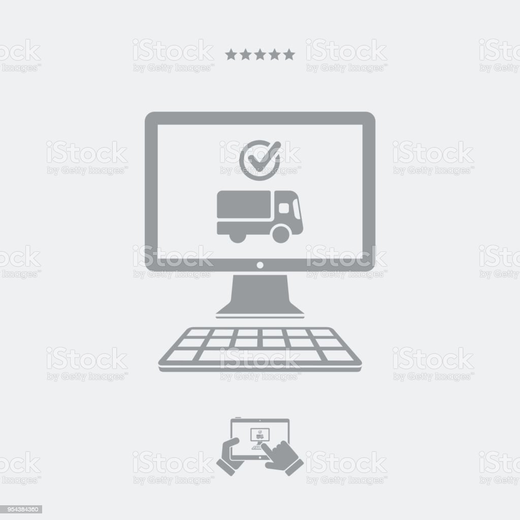 Online Check Courier Shipping Stock Illustration - Download Image