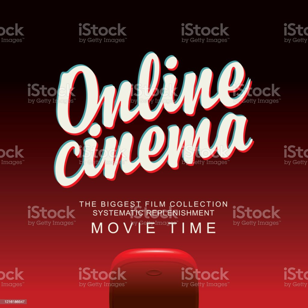 Online Cinema Banner With Movie Theater At Home Stock Illustration Download Image Now Istock