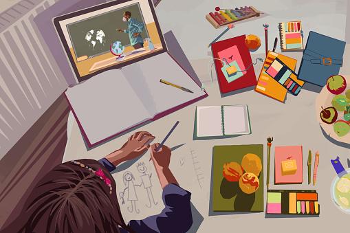 Online class during quarantine for children