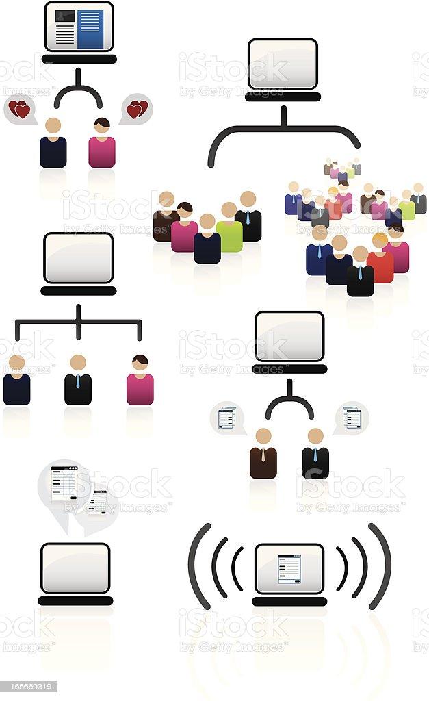 Online communication royalty-free stock vector art
