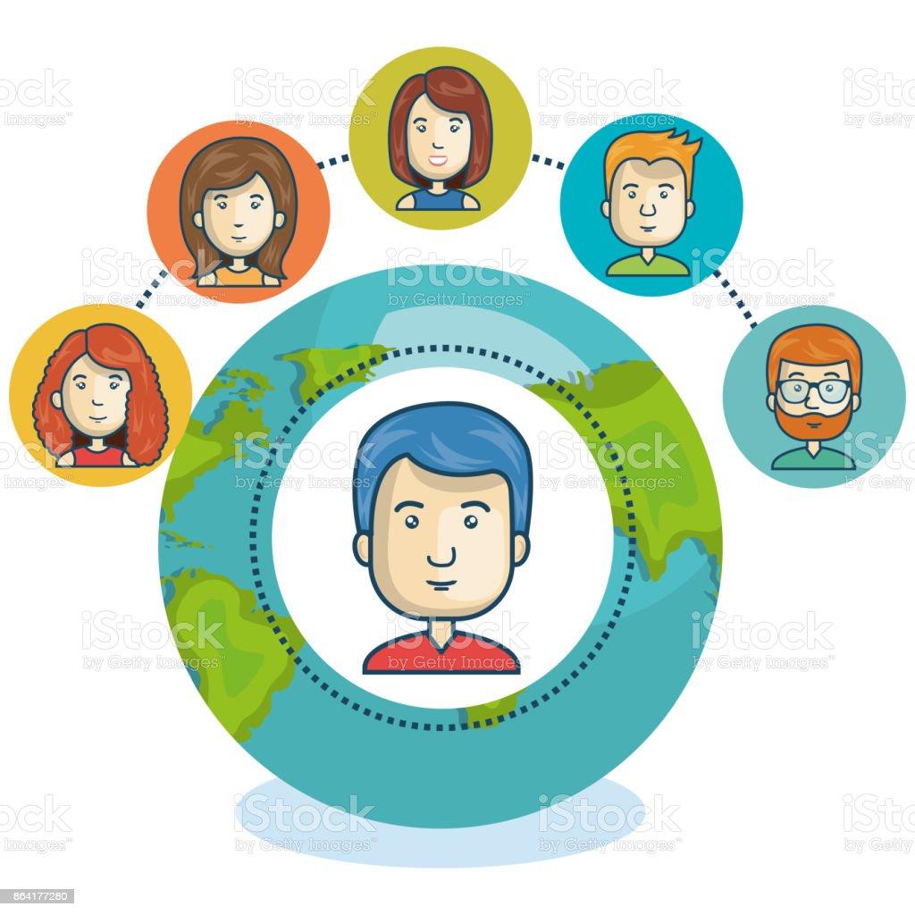 online community globe design royalty-free online community globe design stock vector art & more images of adult