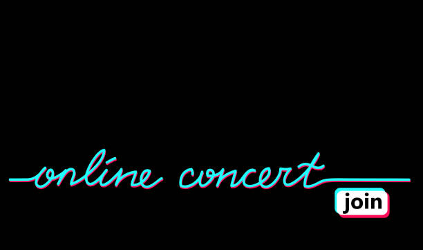 online concert black web banner, background with tiktok colors. - tiktok stock illustrations