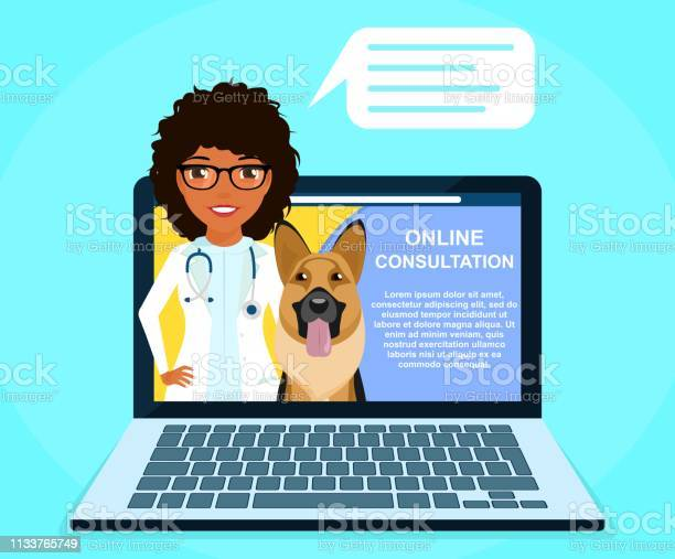 Online consultation with a professional veterinarian a young girl vector id1133765749?b=1&k=6&m=1133765749&s=612x612&h=2madgy2lpmchatuj62bibbwffhdighcaxt4zpgxvrt0=