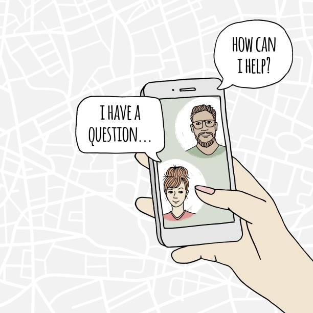Online-Kundenservice-Chat – Vektorgrafik