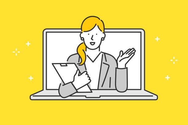 オンラインカスタマーサービス - コンサル点のイラスト素材/クリップアート素材/マンガ素材/アイコン素材
