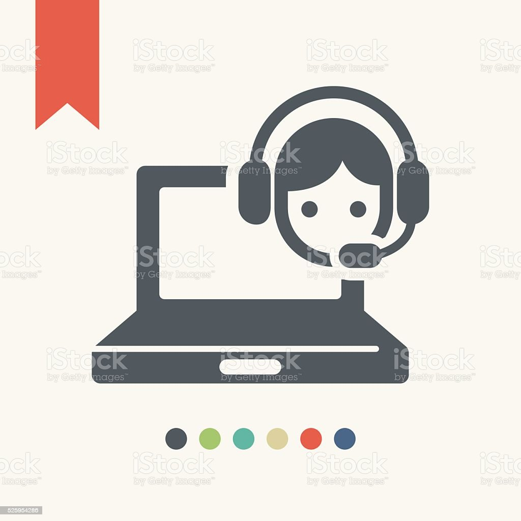 オンラインカスタマーサポートのアイコン ベクターアートイラスト