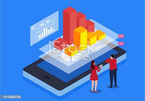 istock Online data monitoring 1010659126