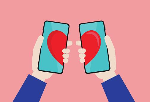 Social Media, Mobile App, Online Messaging, Internet Dating, Couple - Relationship, Dating, Love - Emotion