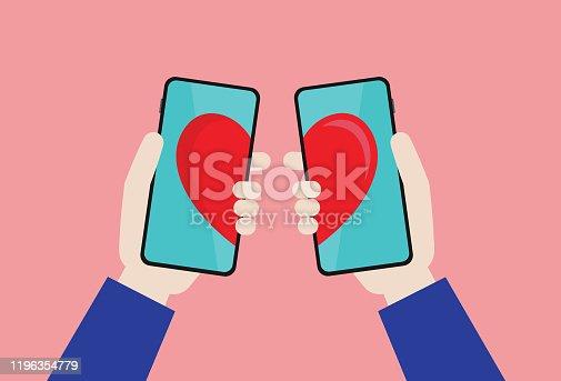 istock Online dating app 1196354779