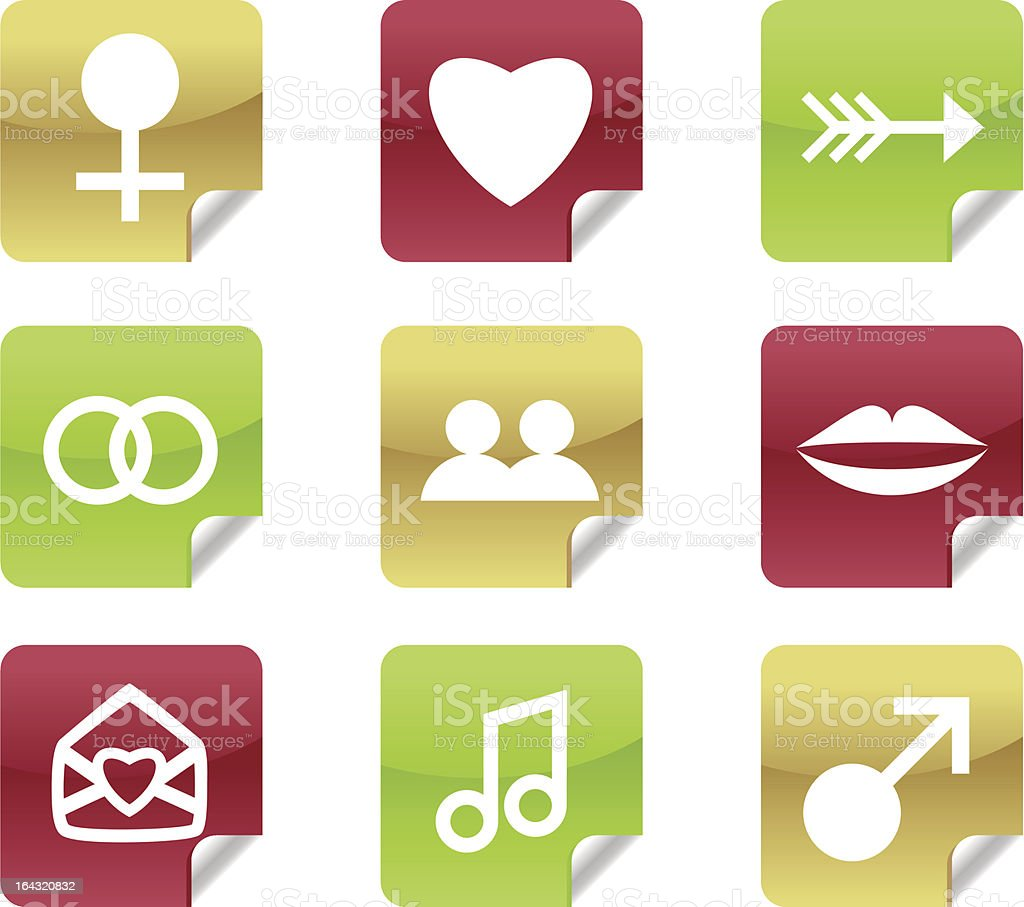 Online Dating Icons for Website / Blog royalty-free stock vector art