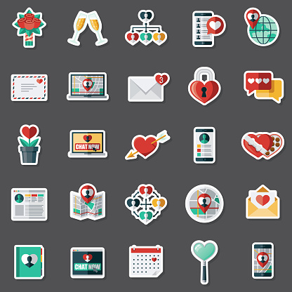 Online Dating Sticker Set
