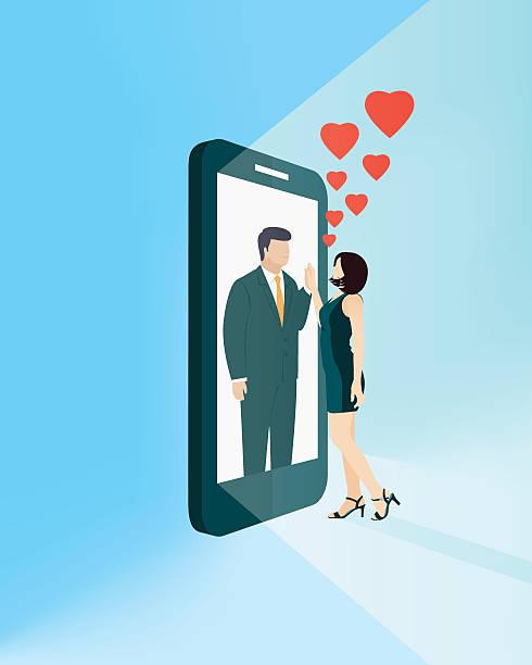 Online Dating Online Dating online dating stock illustrations