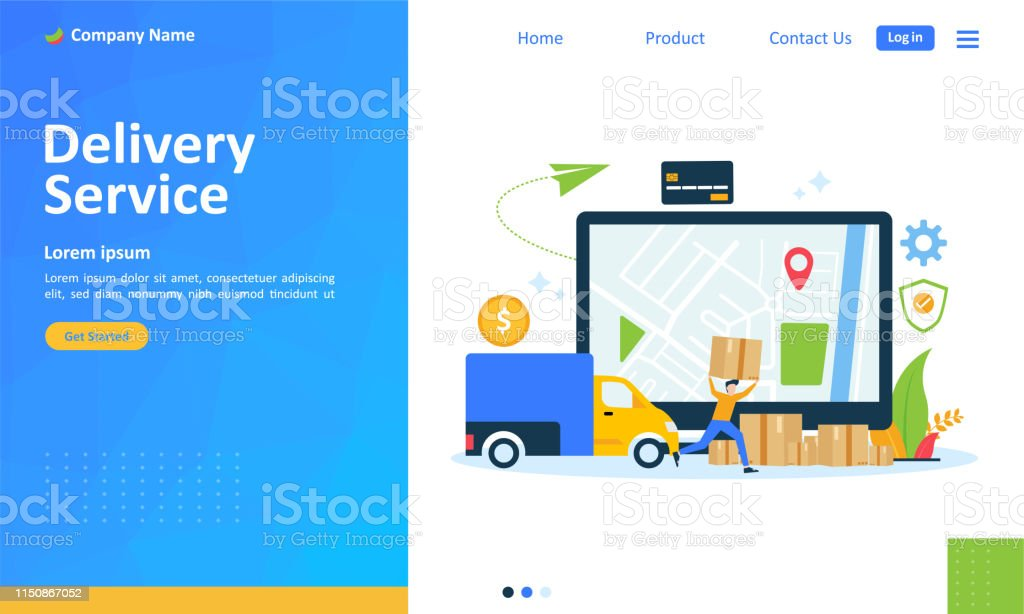 Online Delivery Service Concept Order Tracking Suitable For Web