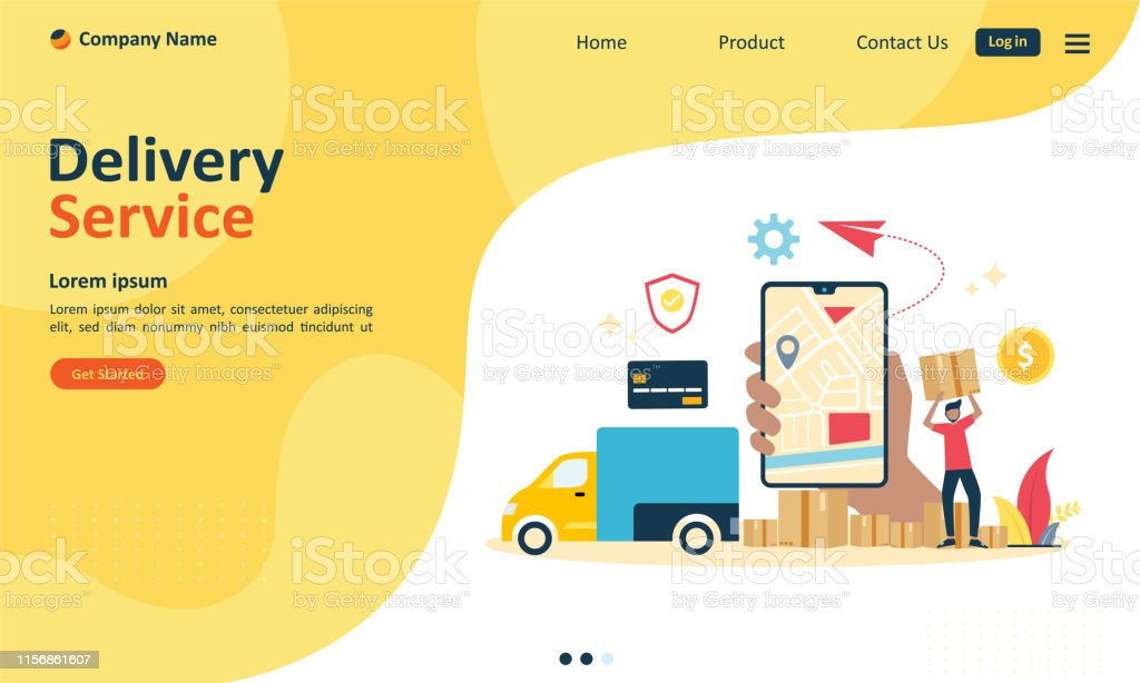 Online delivery service concept, order tracking, Suitable for web...