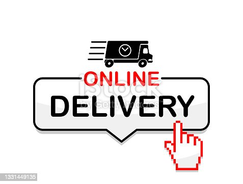 istock Online delivery service icon 1331449135