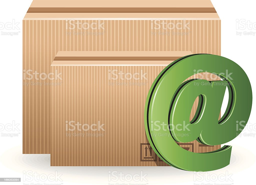 Online Delivery royalty-free stock vector art