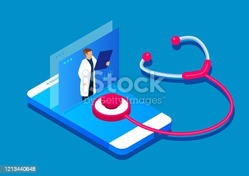istock Online diagnosis, online medical services 1213440648