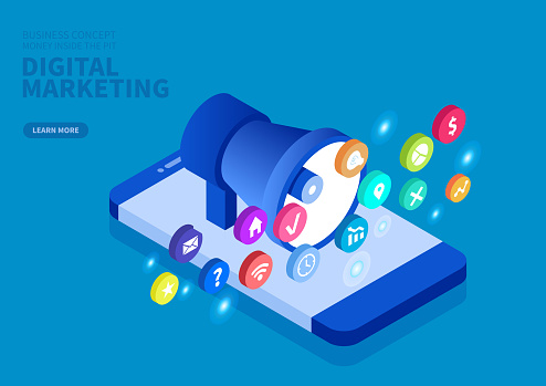 Online digital marketing concept