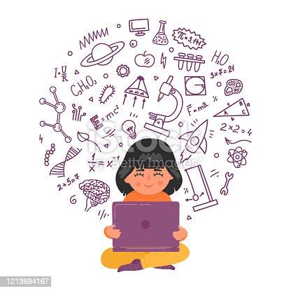 istock Online, distance children education 1213694167