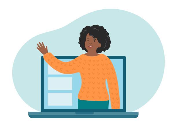 ilustrações, clipart, desenhos animados e ícones de educação a distância online. professor explicar o tema da aula. - professor