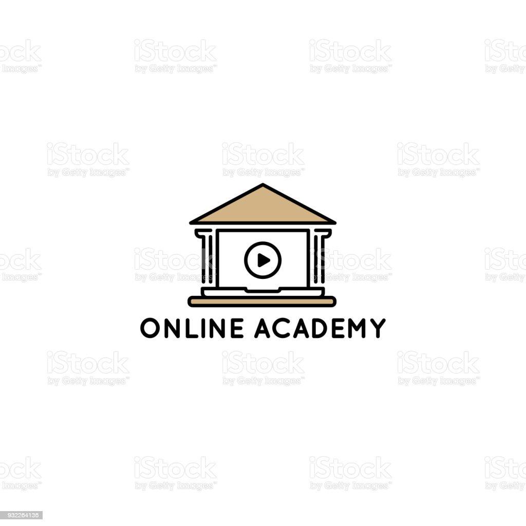 Educación en línea y plantilla de diseño de aprendizaje. - ilustración de arte vectorial