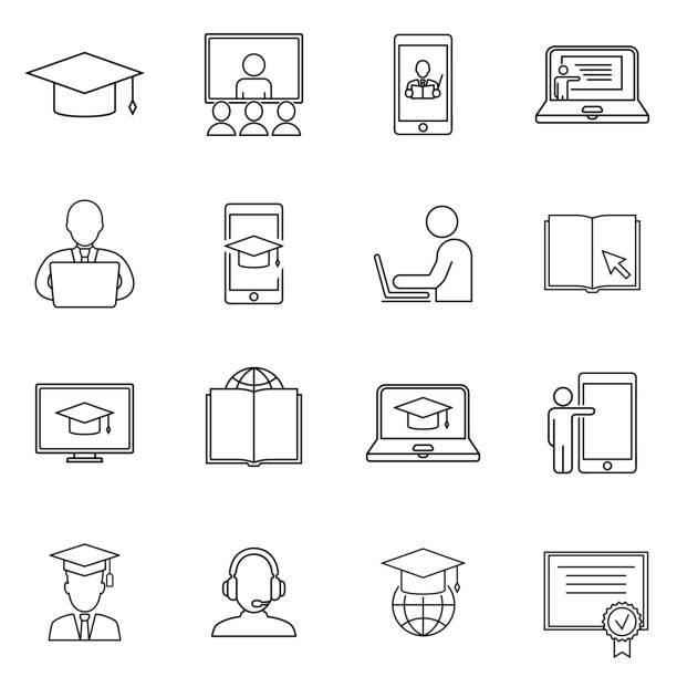 Web Based Training Illustrations, Royalty-Free Vector