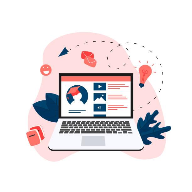 stockillustraties, clipart, cartoons en iconen met online onderwijs app. e-learning concept - cursus