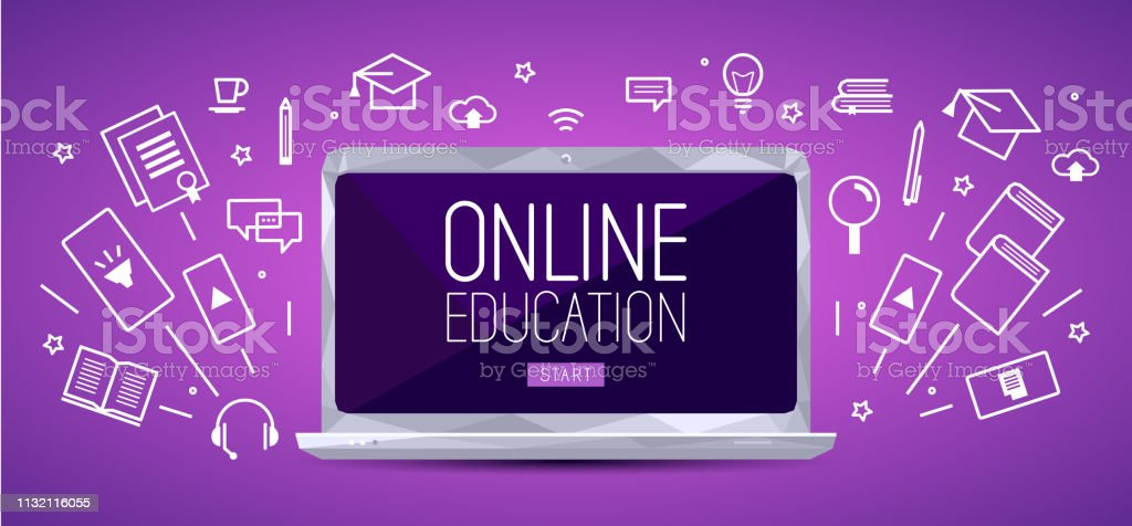 Online Education Banner Stock Illustration Download Image Now Istock