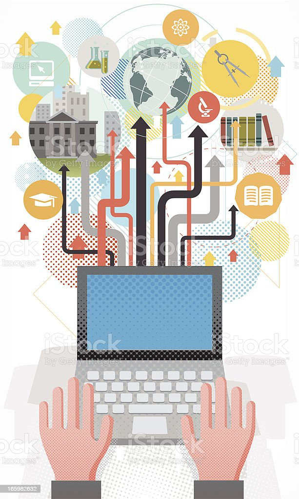Online education concept. royalty-free stock vector art